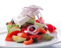 греческий салат плиты Стоковая Фотография RF