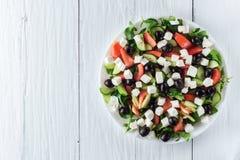 греческий салат плиты Стоковое Изображение RF