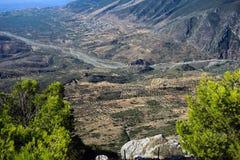 Греческий сельский ландшафт Стоковое фото RF
