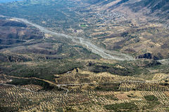 Греческий сельский ландшафт Стоковая Фотография