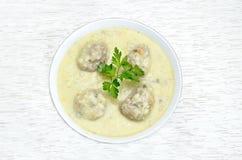 Греческий суп meatball Стоковая Фотография