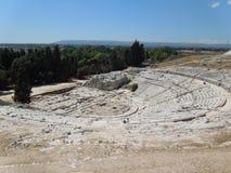 Греческий театр в Сиракузе, Сицилии Италии стоковое изображение