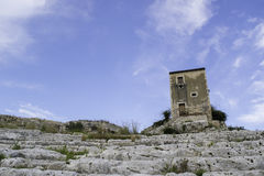 Греческий театр в Сицилии стоковое изображение