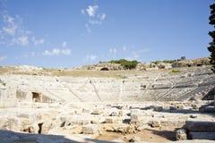 греческий театр siracusa s стоковое фото