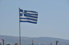 Греческий флаг Стоковая Фотография RF