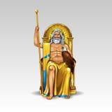 Греческий Zeus бога Стоковые Изображения