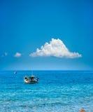 2 греческих рыбацкой лодки Стоковое Фото