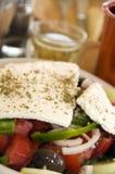 греческое вино салата дома Стоковое Фото