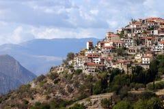 греческое горное село Стоковые Изображения RF