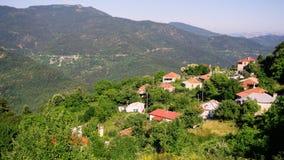 греческое горное село Стоковое Фото