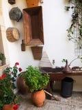 Греческое деревенское патио Стоковые Фото