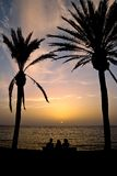 греческое заходящее солнце Стоковое фото RF