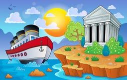 Греческое изображение 9 темы Стоковые Изображения