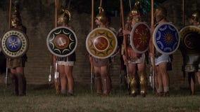 Греческое македонское образование фаланстера сток-видео
