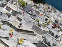 Греческое правоверное кладбище - Греция, Крит, ажио Nikolaos стоковая фотография