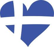 греческое сердце иллюстрация штока