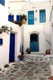 греческое старое село paros Стоковые Фото