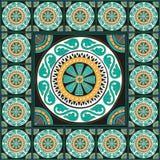 Греческое традиционное оформление дома мозаики Стоковое фото RF
