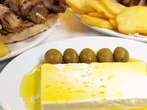 греческое souvlaki Стоковое Изображение RF