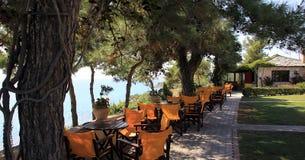 Греческое taverna морским путем Стоковые Изображения RF