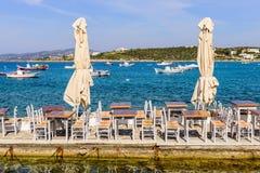 греческое taverna традиционное Стоковая Фотография