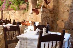 греческое taverna Стоковые Фотографии RF