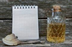 Грибок полки Рецепт тинктуры грибка кронштейна Naturopathy Стоковая Фотография RF