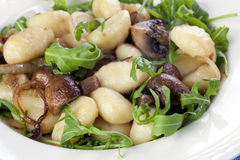 гриб еды gnocchi стоковое изображение rf