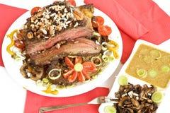 гриб мяса еды дома Стоковая Фотография