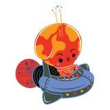 Гриб на космическом корабле Стоковая Фотография RF
