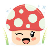 гриб характера милый Стоковые Изображения