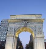 Гринич-виллидж памятника квадрата Вашингтона, Манхаттан, Нью-Йорк Стоковое фото RF