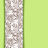 Гринкарда с флористической картиной. Стоковые Изображения