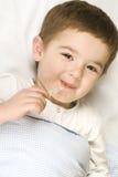 грипп лихорадки ребенка Стоковые Изображения