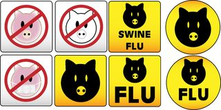 грипп подписывает swine Стоковое Фото