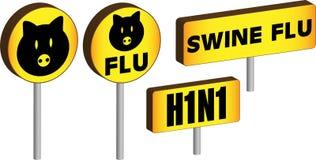 грипп 3d подписывает swine Стоковая Фотография