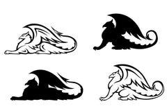 грифоны heraldic Стоковое Фото