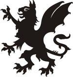 грифон heraldic иллюстрация вектора