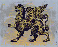 грифон heraldic бесплатная иллюстрация
