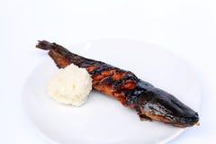 Гриль сома с липким рисом Стоковое Изображение RF