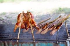 Гриль цыпленка, тайский традиционный стиль Стоковые Изображения RF