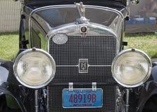 Гриль 1929 черный Кадиллак Стоковые Фотографии RF