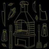 Гриль & BBQ Стоковое Изображение RF