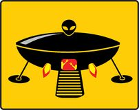 Гриль UFO BBQ иллюстрация вектора