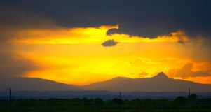 гроза гор утра Стоковые Изображения RF