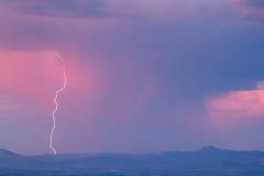 Гроза и молния стоковое изображение rf