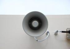 Громкоговоритель мегафона как непредвиденное сообщение стоковые изображения rf