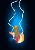 Гром силы батареи Стоковое Изображение RF