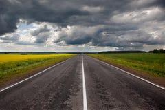 гром шторма дороги Стоковые Изображения RF
