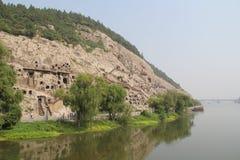 Гроты Longmen в провинция Лояне, Хэнане, парк Китая Стоковая Фотография